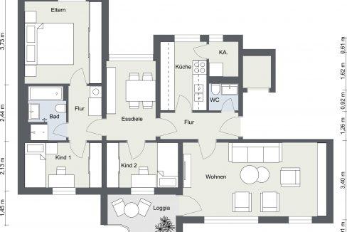 Gräfelfinger Straße 66 - Etage 1 - 2D Floor Plan