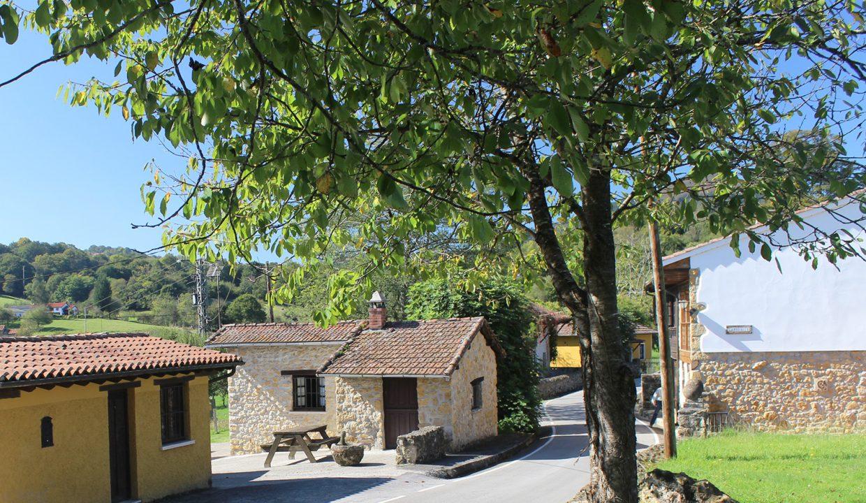 7585 El Mortorio Asturias pueblo entero vistas montanas whole village mountain view calle