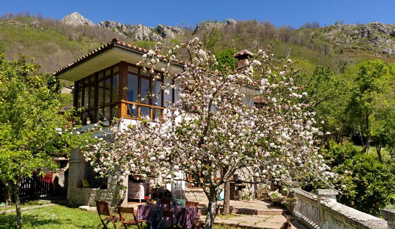 14.04.32 casa piedra tradicional venta stone house for sale vistas montana mountain views near cangas de onis asturias northern spain